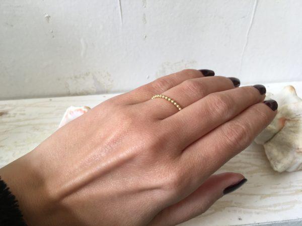 goldkugel ring als vorsteckring