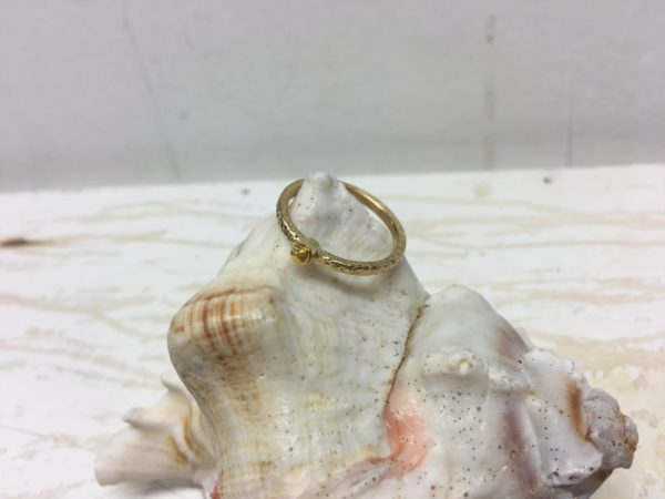 goldkugel ring als sonne