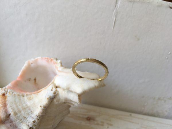 herzchen ring verlobung schmal dünn gold