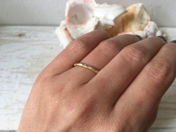 herzchen ring in gold grob