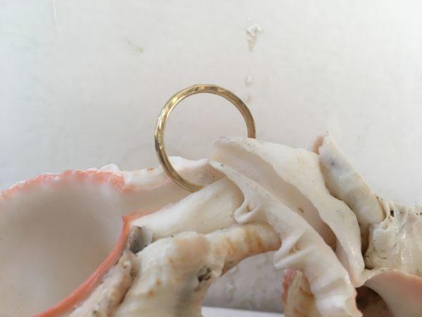 hammerschlag verlobungsring gold