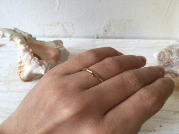 vorsteckring verlobungsring mit orange braunem stein