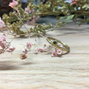 Verlobungsring mit grünem Diamant als Stein Jupero