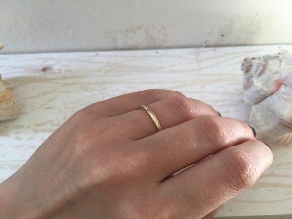 facettenring gold schmal verlobung