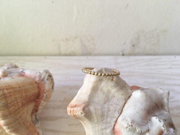 dicker rosegold ring aus kugeln vorsteckring damenring