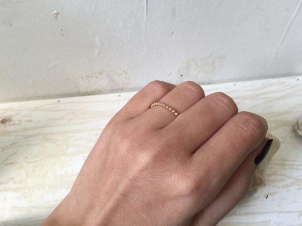 zierlicher damenring verlobungsring aus rotgold