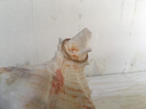 runder verlobungsring matt in rosegold