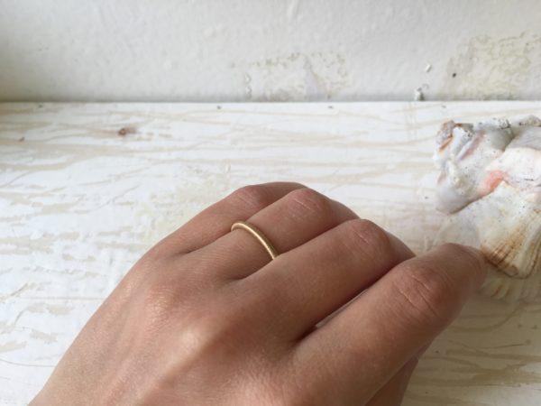 matter schlichter verlobungsring gold