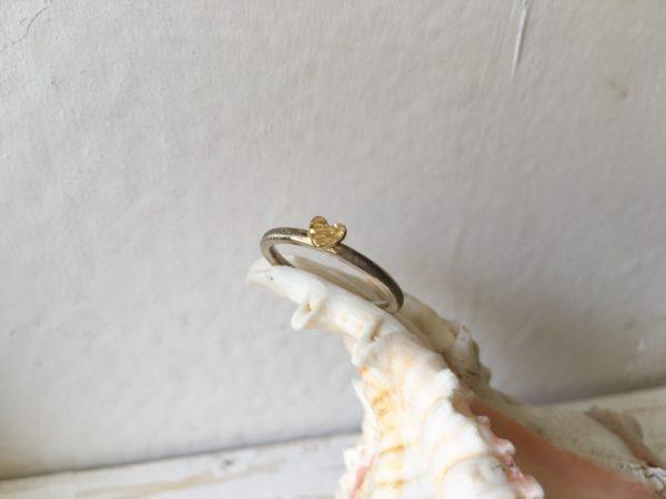 damenring verlobungsring mit herz weissgold gelbgold