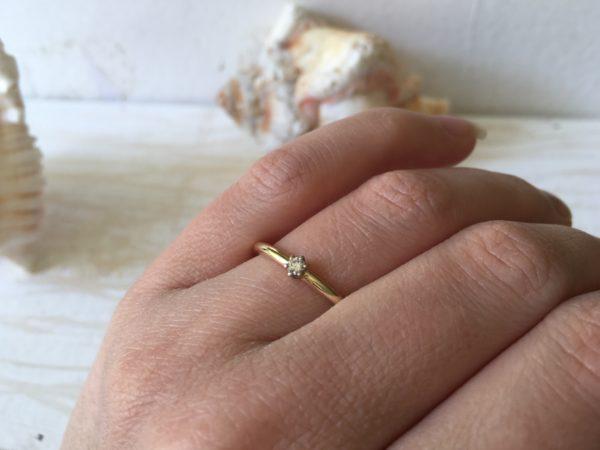 klassischer verlobungsring vom goldschmied