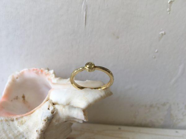 verlobungsring gelber stein diamant
