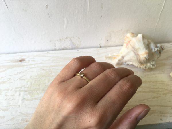 chatonfassung verlobungsring hammerschlag