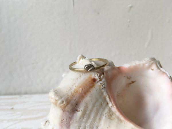 verlobungsring mit nugget weissgold