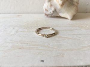 weissgoldring verlobungsring mit stein