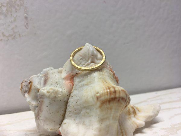 günstiger verlobungsring in gold ohne stein