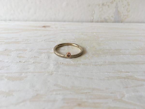 vorsteckring weissgold mit rosa stein
