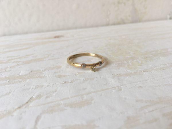 gehämmerter verlobungsring belisama