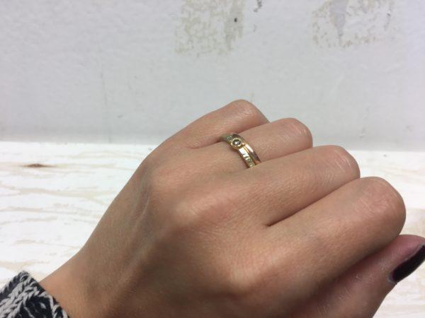 vorsteckring verlobungsring mit kerben gold