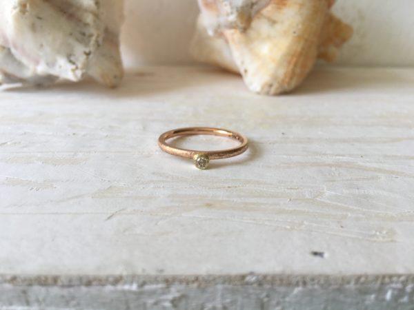 vorsteckring verlobungsring zweifarbig rosa stein
