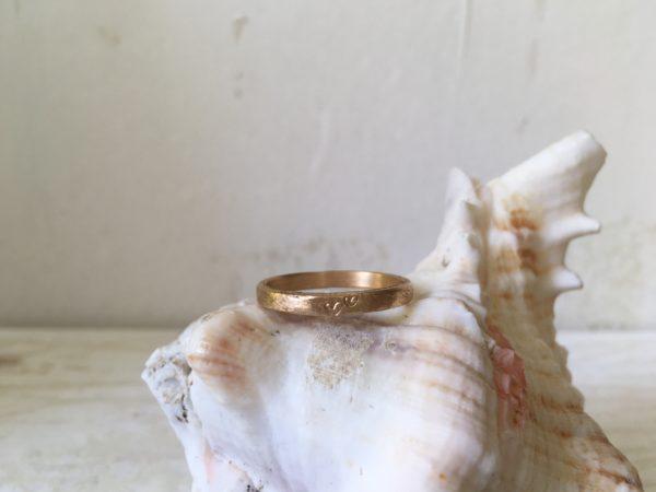 zwei herzen verlobungsring in rosegold leona